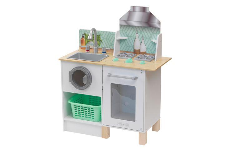 Cuisine et buanderie en bois pour enfant Whisk & Wash Kidkraft