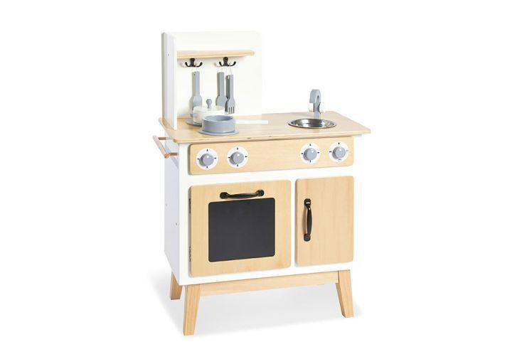 jolie cuisine en bois pour enfants vintage blanche