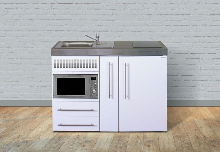 Kitchenette équipée avec réfrigérateur, micro-ondes, plaques de cuisson Stengel