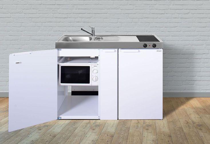 Mini cuisine avec frigo micro ondes et vitroc ramiques for Evier pour meuble 50 cm