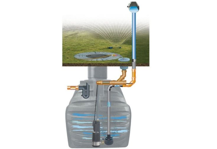 cuve de récupération d'eau de pluie 9400L arrosage jardin