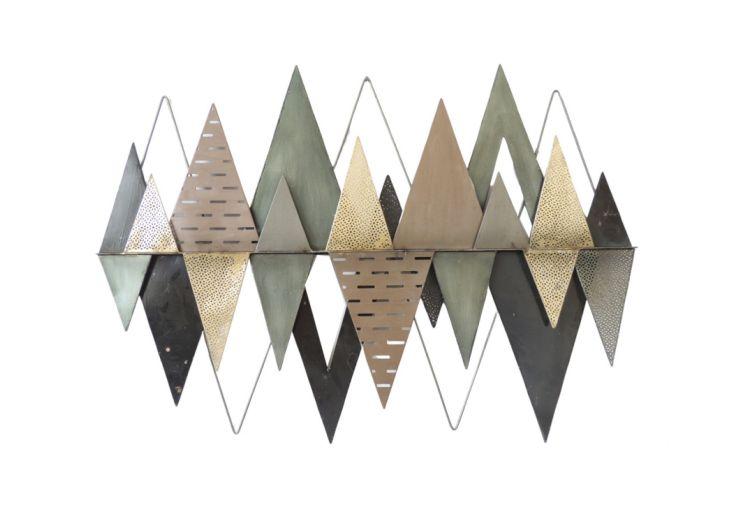 Décoration Murale Triangles Décalés en Métal Socadis