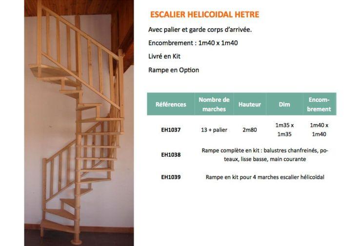 Escalier h lico dal en h tre 2 80 m escalier h lico dal en h tre 2 80m pa - Dimension escalier helicoidal ...