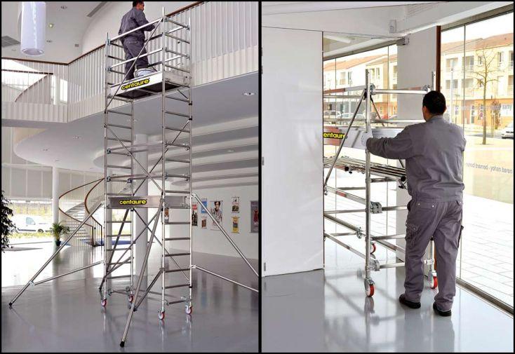 Echafaudage d interieur asc roues echafaudage pliant mm for Location echafaudage escalier interieur