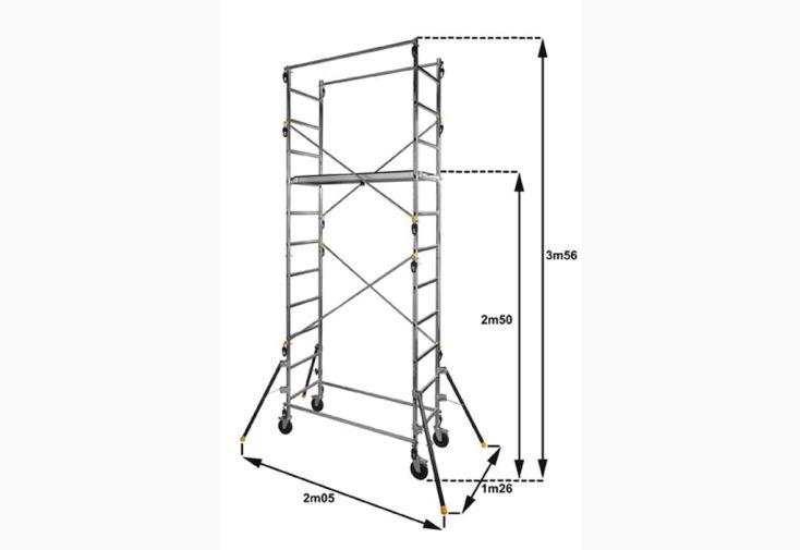 Echafaudage Aluminium Quad'UP 4,70 m
