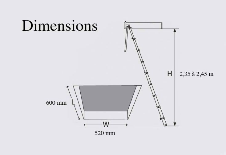 Echelle de Meunier Telescopique (2,35 à 2,45m)
