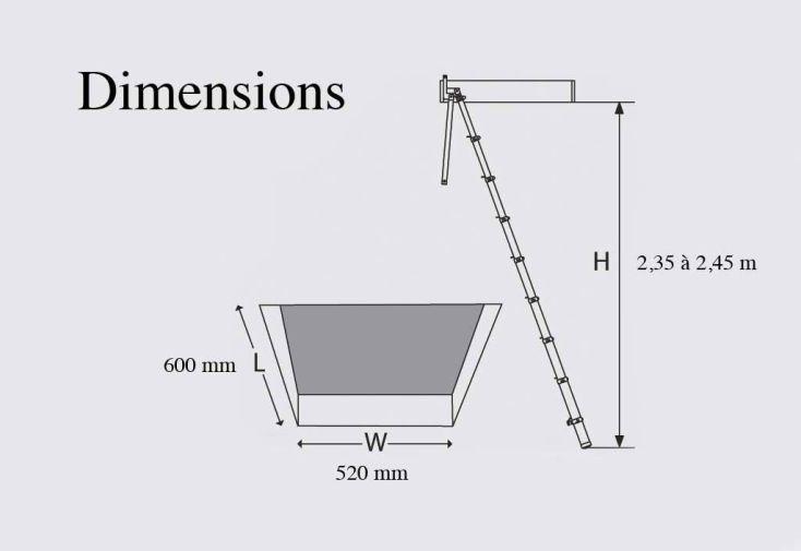 Echelle de Meunier Telescopique (2,65 à 2,93m)