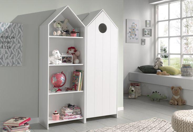 Armoire et bibliothèque en bois pour chambre enfant Casami Vipack