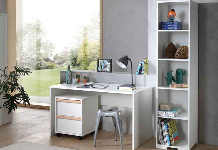 meuble de bureau pour enfant avec caisson et bibliothèque Vipack