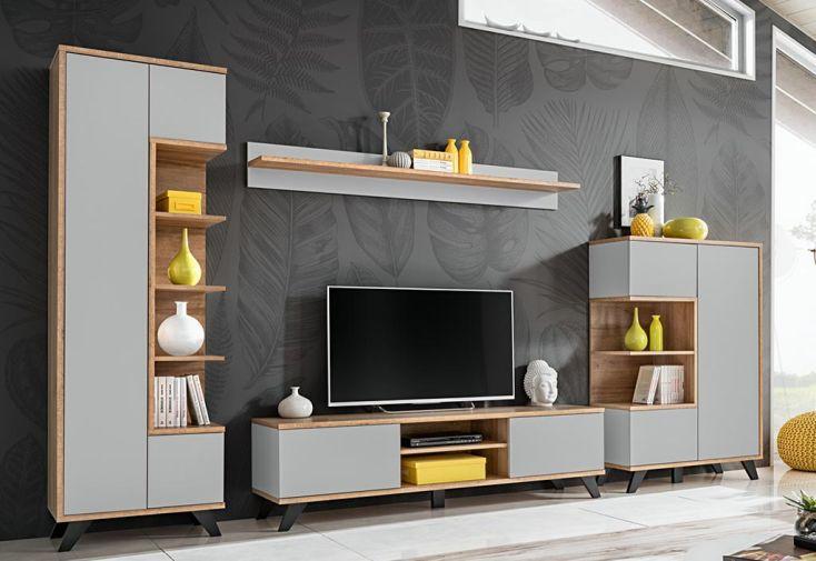 Ensemble meubles de salon et meuble TV en bois ASM Bogota