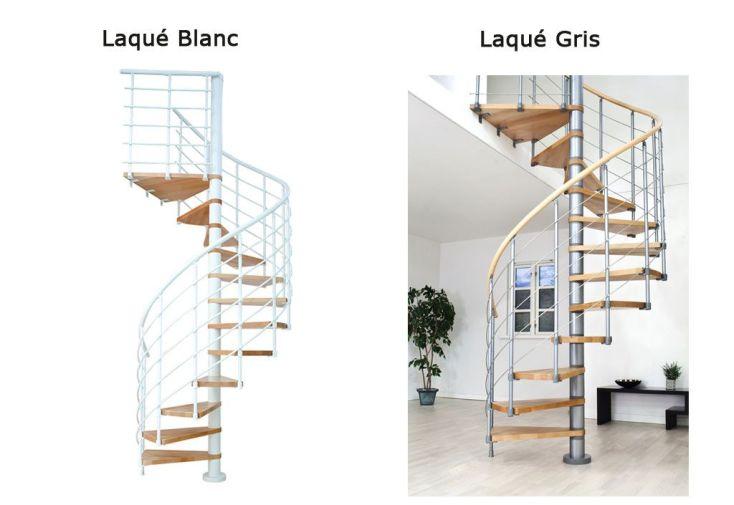 Escalier colima on 120cm bois et acier oslo burger - Escalier acier bois ...