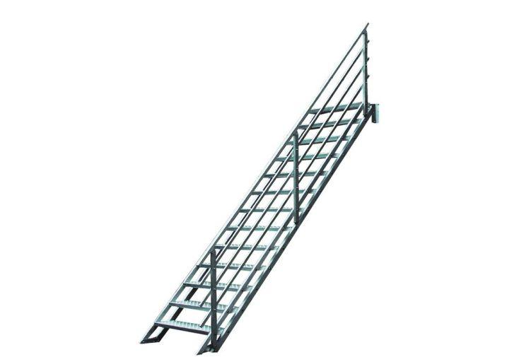 Escalier droit en alu altis escalier droit en aluminium for Prix escalier exterieur