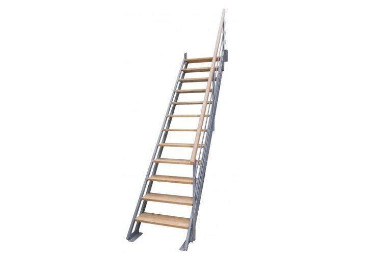 escalier droit en bois et en métal réglable en hauteur 275 cm