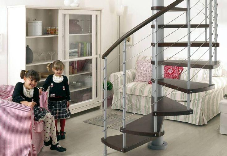 Escalier en colimaçon Kloe foncé