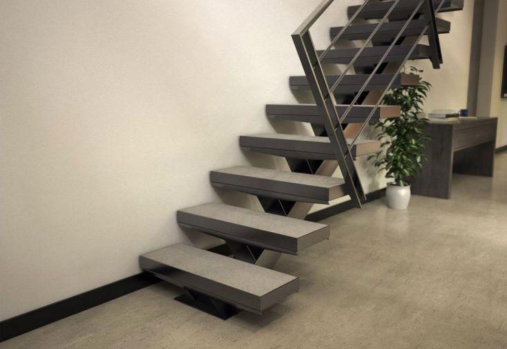 limon central manhattan pour escalier droit en acier 281 224 350 cm escalier m 233 tal