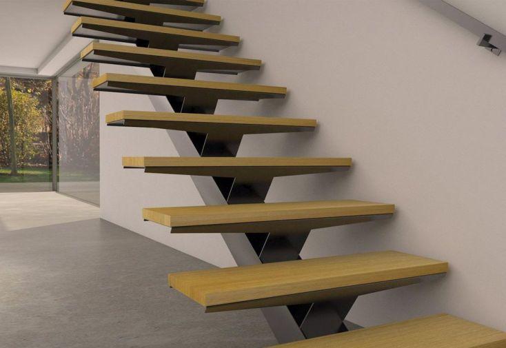 limon central manhattan pour escalier droit en acier. Black Bedroom Furniture Sets. Home Design Ideas