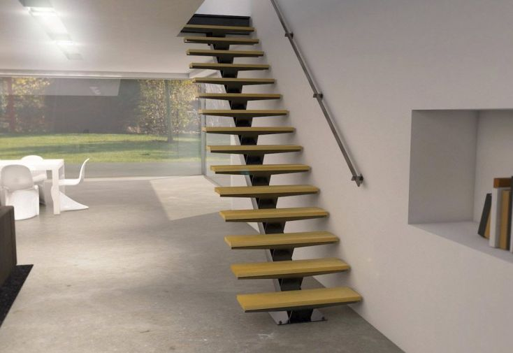 Limon Central Manhattan pour Escalier Droit en Acier (< 280 cm ...