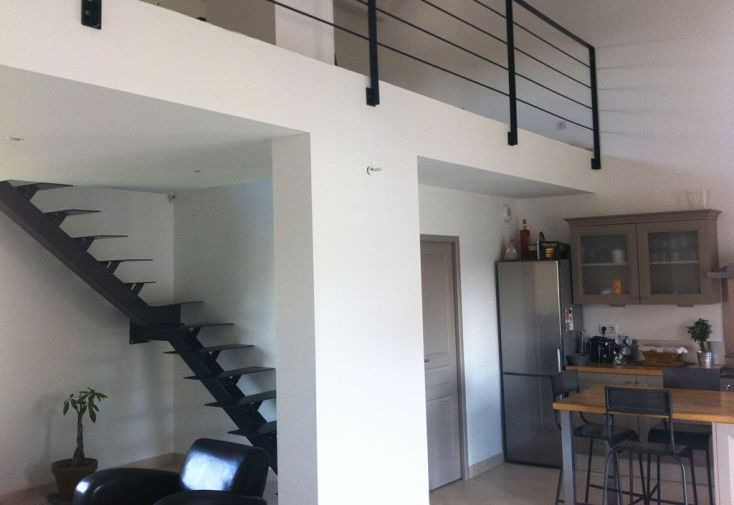 Escalier Métal Design 1/4 Tournant (Gauche ou Droit)