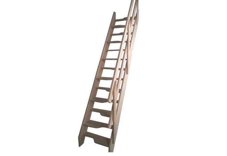 Escalier à Pas Japonais Pas décalé en Hêtre