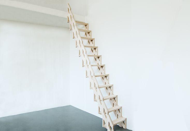 Escalier en bois pliable Slim finition huilée