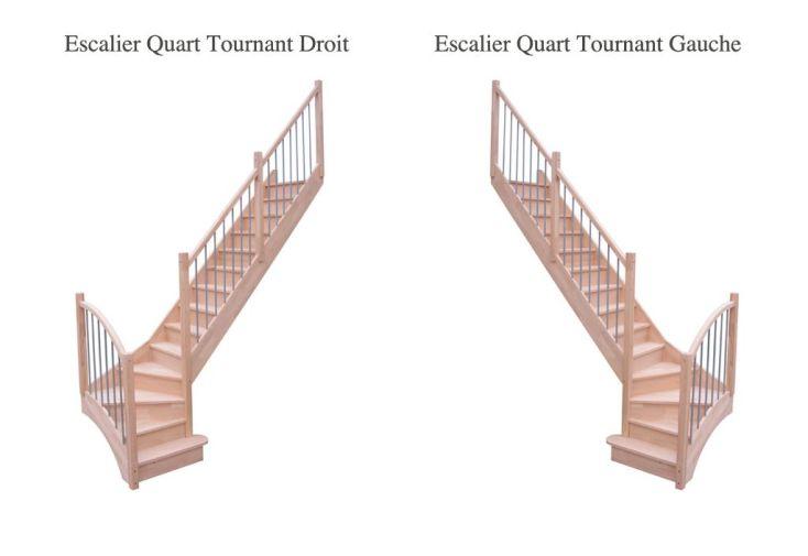escalier quart tournant bas en h tre duo levigne. Black Bedroom Furniture Sets. Home Design Ideas