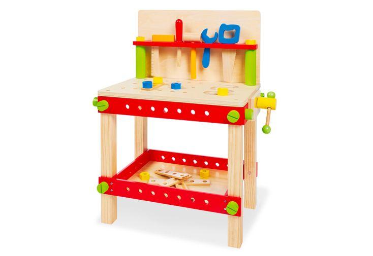 Etabli pour enfant en bois Pinolino avec outils en bois