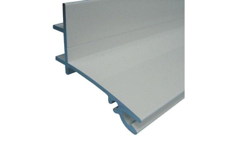 Profil Faitière Supérieure en Aluminium Blanc Sur Mesure