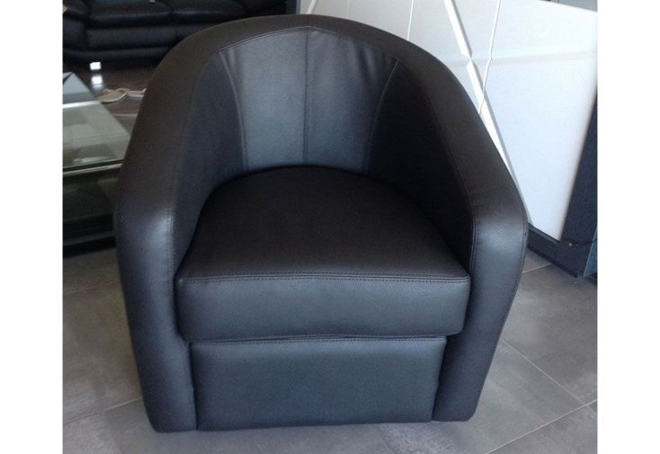 Fauteuil club en cuir v ritable ponza 75x75x84cm l l h 5 coloris fauteu - Veritable fauteuil club ...
