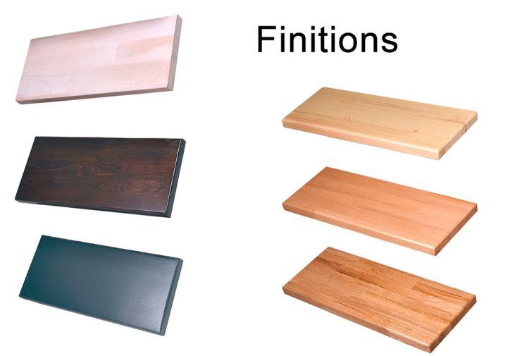 Finitions wengé, cérusé, gris ou vernis pour escalier double quart tournant contremarches