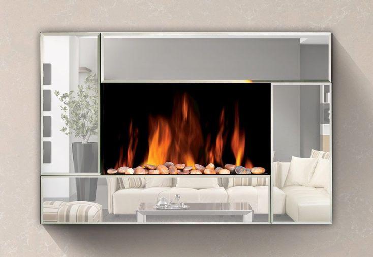 Foyer décoratif avec flamme réglable puissance 1000 ou 2000 W