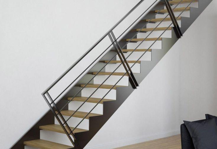 garde corps 4 lisses pour double limons tokyo escalier m tal. Black Bedroom Furniture Sets. Home Design Ideas