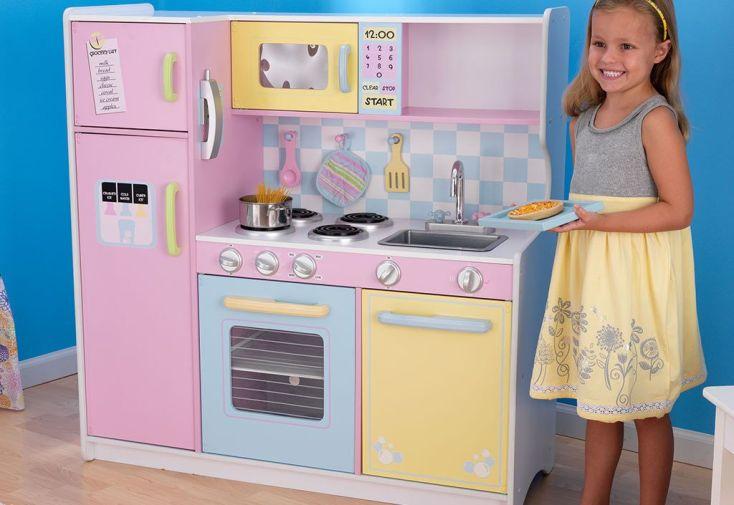 grande cuisine pour enfants pastel kidkraft. Black Bedroom Furniture Sets. Home Design Ideas