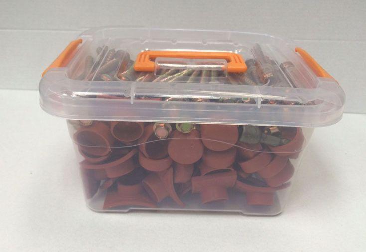 Kit de 50 Fixations pour Plaques PVC Tuiles Dhaze (3 Coloris)