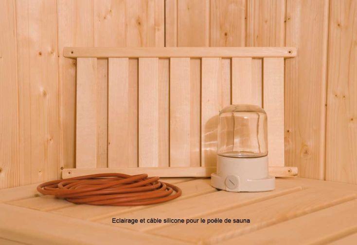 Sauna Angle Kemi Bois Massif 45 mm