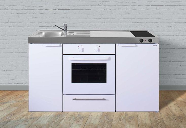 Kitchenette MKB150 blanche de Stengel avec four, frigo et plaques