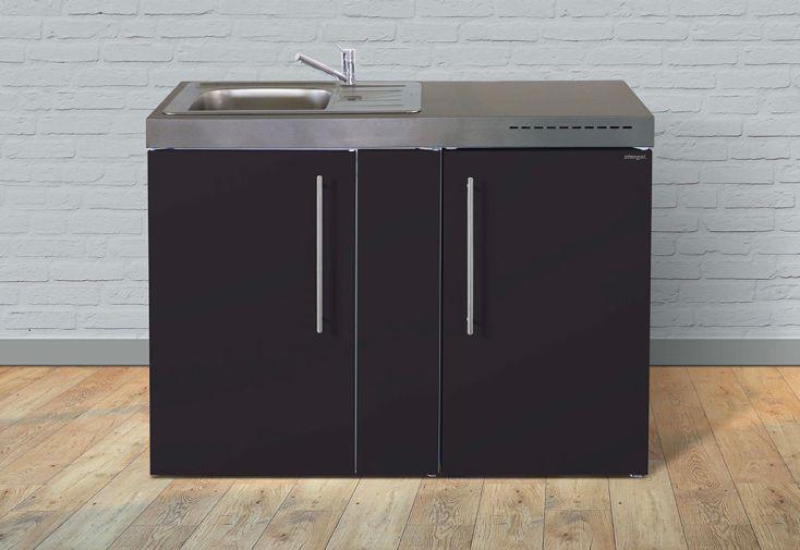 Kitchenette en métal Stengel MP 120 avec réfrigérateur et évier