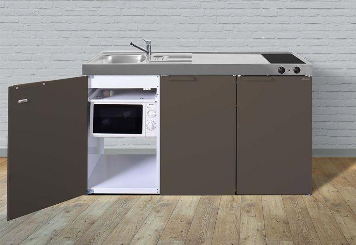 Kitchenette pour studio 150 cm avec frigo, micro-ondes et plaque vitrocéramique