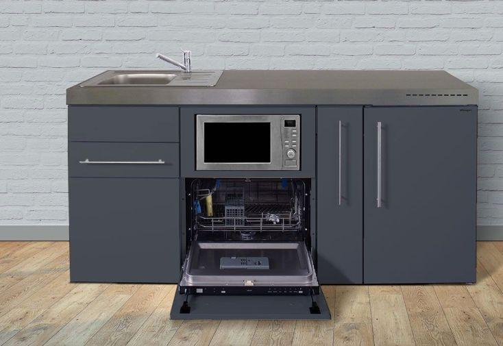 Kitchenette en métal toute équipée idéale pour studio