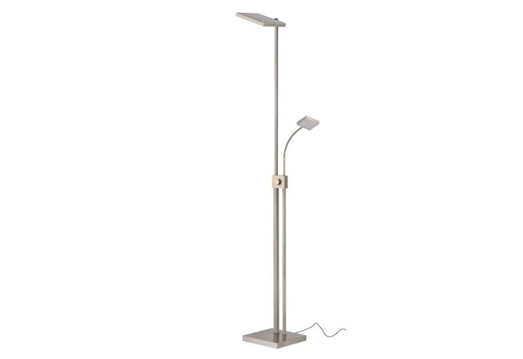 Lampadaire LED avec Liseuse Carré
