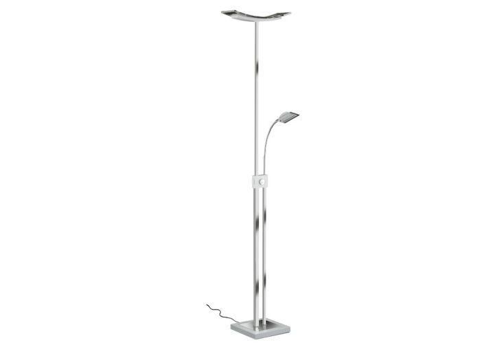 Lampadaire LED avec Liseuse Bacio Chrome