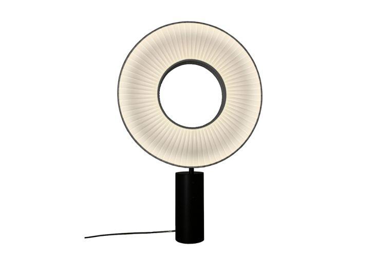 Lampe à Poser LED en Métal avec Abat-Jour en Ruban Dix Heures Dix Heures Dix Iris