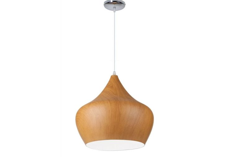 lampe suspension design imitation bois tipi 38 cm 2. Black Bedroom Furniture Sets. Home Design Ideas