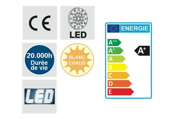 Plafonnier LED Rond Go 31cm Chrome