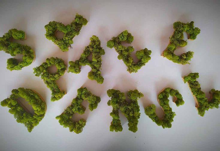 Lettres déco en végétal stabilisé Volum Agencement
