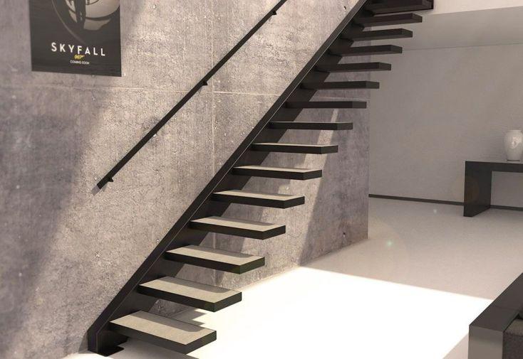Limon lat ral sydney pour escalier suspendu en acier 281 for Prix escalier exterieur metal
