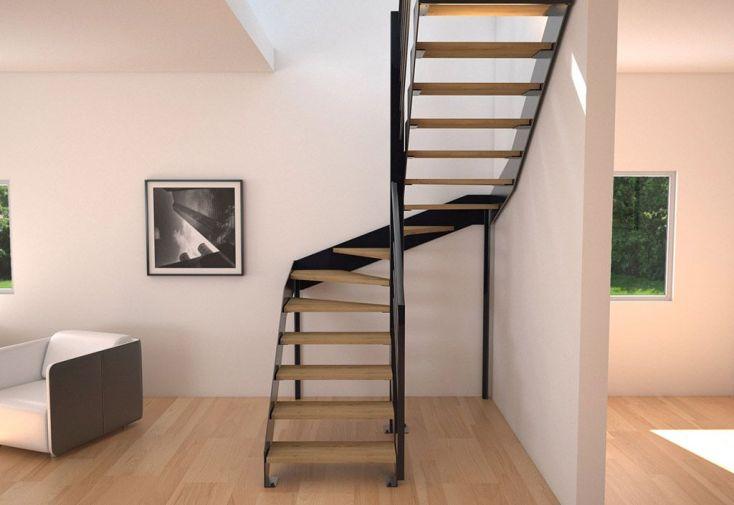 limons tokyo pour escalier demi tournant en acier. Black Bedroom Furniture Sets. Home Design Ideas