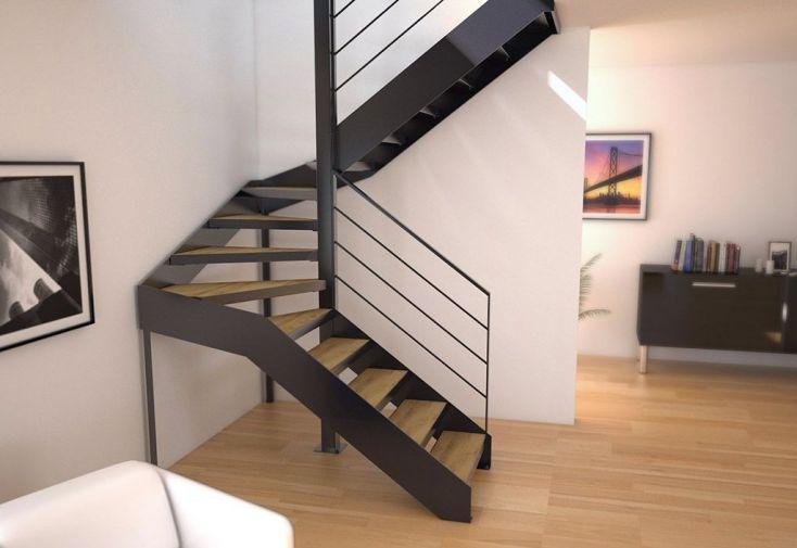 limons copenhague pour escalier demi tournant en acier. Black Bedroom Furniture Sets. Home Design Ideas