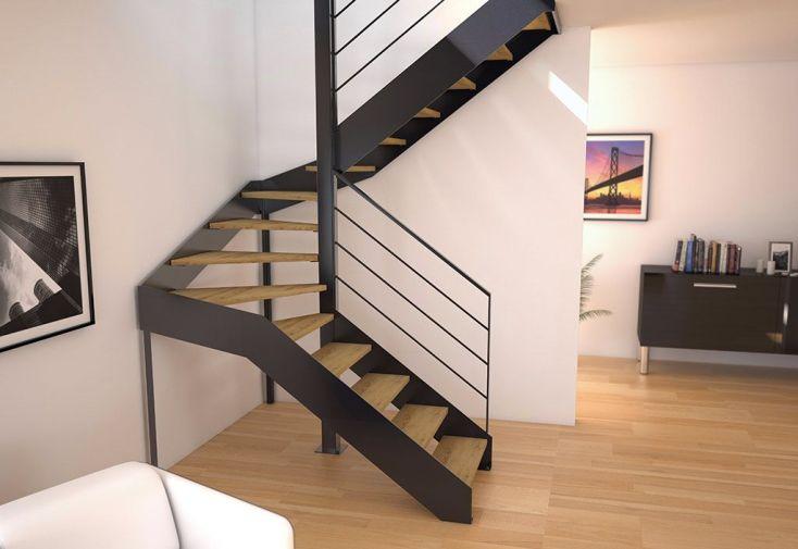 Limons copenhague pour escalier demi tournant en acier - Escalier demi tournant ...