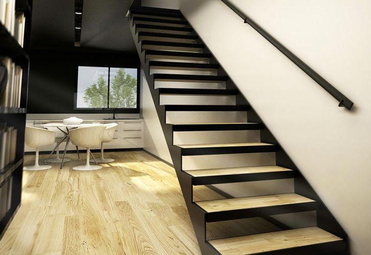 double limons tokyo pour escalier droit en acier. Black Bedroom Furniture Sets. Home Design Ideas