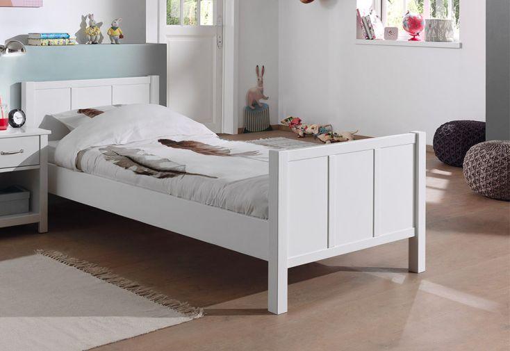 Lit 1 personne en bois blanc 90 x 200 cm pour enfant